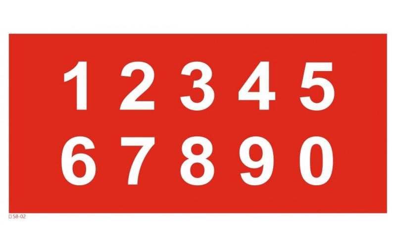 T 58-02  Цифры от 0 до 9 (набор)