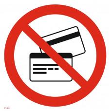 P 43  Запрещается пользоваться магнитными карточками
