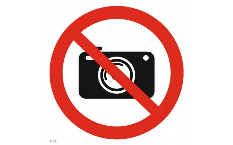 P 48  Запрещается пользоваться фотоаппаратом