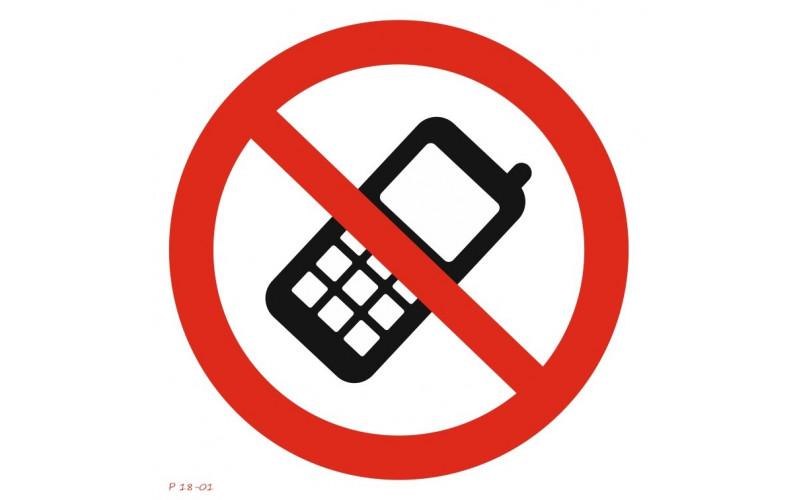 P 18-01  Пользоваться мобильным телефоном запрещено