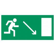 Е 07  Направление к эвакуационному выходу направо вниз