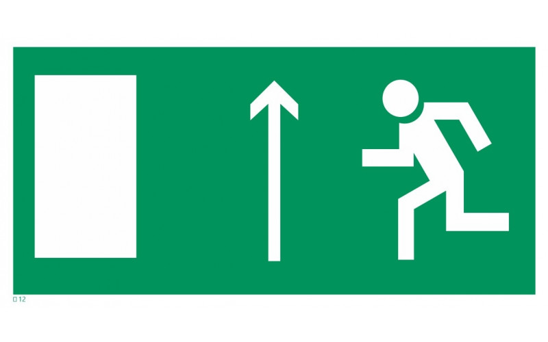 Е 12  Направление к эвакуационному выходу прямо
