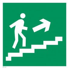Е 15  Направление к эвакуационному выходу по лестнице вверх